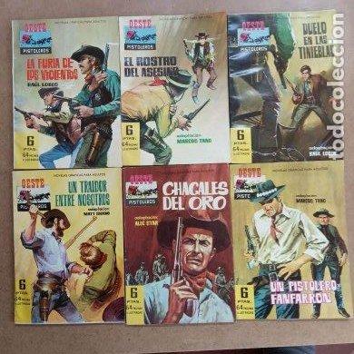 Tebeos: OESTE PISTOLEROS EDI. FERMA 1963 - 56 NºS ENTRE EL 22 Y EL 169, VER PORTADAS Y CONTRAS - Foto 44 - 235598340