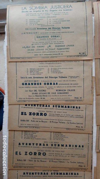 Tebeos: LA SOMBRA JUSTICIERA ORIGINAL 34 TEBEOS - EDI. FERMA 1954 - VER TODAS LAS PORTADAS - Foto 11 - 236655090