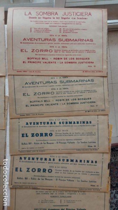 Tebeos: LA SOMBRA JUSTICIERA ORIGINAL 34 TEBEOS - EDI. FERMA 1954 - VER TODAS LAS PORTADAS - Foto 18 - 236655090