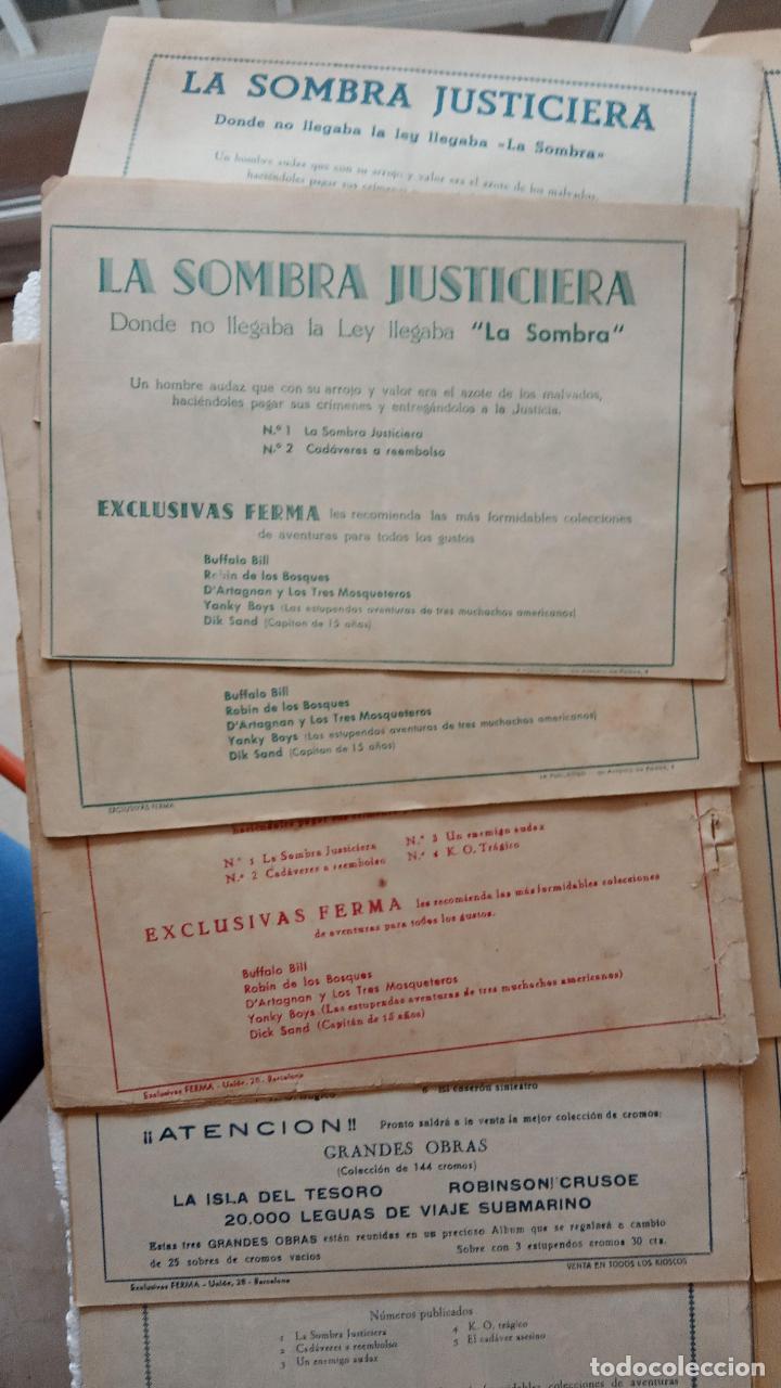 Tebeos: LA SOMBRA JUSTICIERA ORIGINAL 34 TEBEOS - EDI. FERMA 1954 - VER TODAS LAS PORTADAS - Foto 19 - 236655090