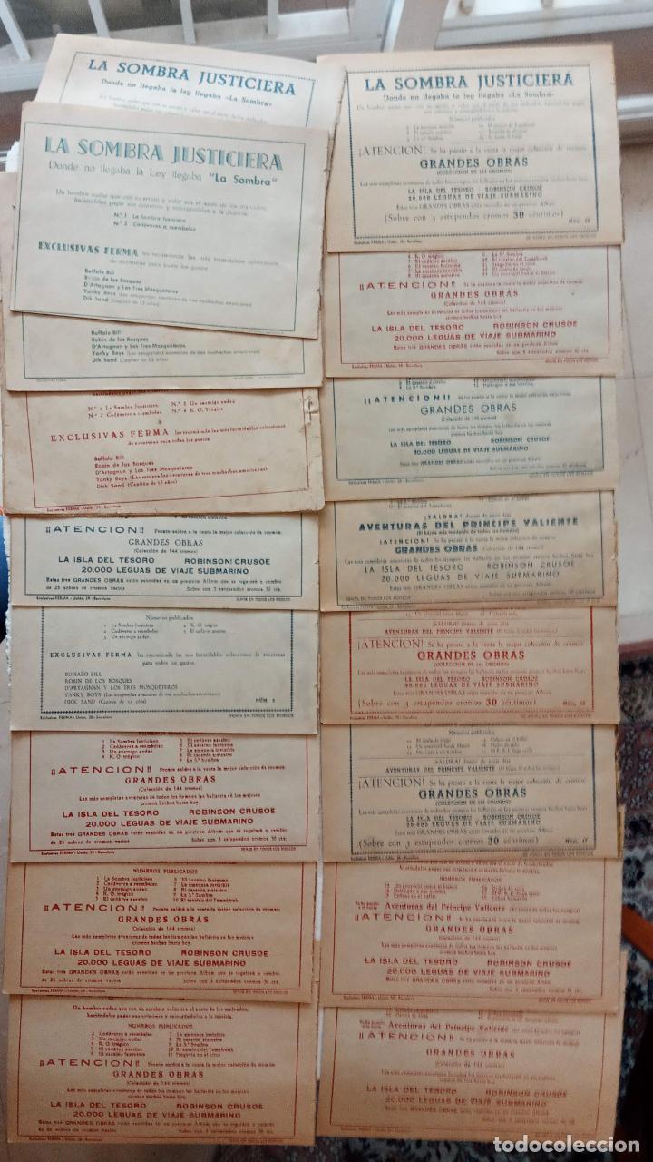 Tebeos: LA SOMBRA JUSTICIERA ORIGINAL 34 TEBEOS - EDI. FERMA 1954 - VER TODAS LAS PORTADAS - Foto 22 - 236655090