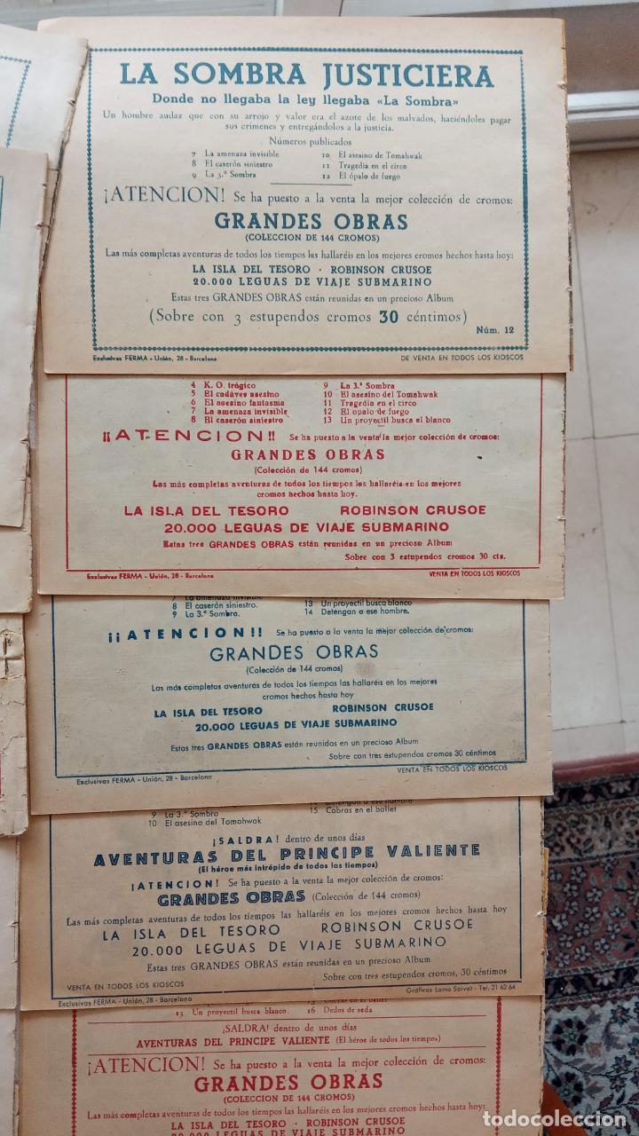 Tebeos: LA SOMBRA JUSTICIERA ORIGINAL 34 TEBEOS - EDI. FERMA 1954 - VER TODAS LAS PORTADAS - Foto 25 - 236655090