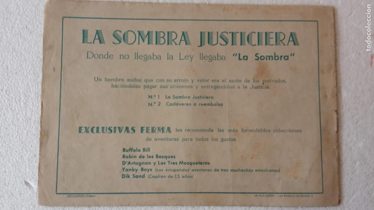 Tebeos: LA SOMBRA JUSTICIERA ORIGINAL 34 TEBEOS - EDI. FERMA 1954 - VER TODAS LAS PORTADAS - Foto 28 - 236655090