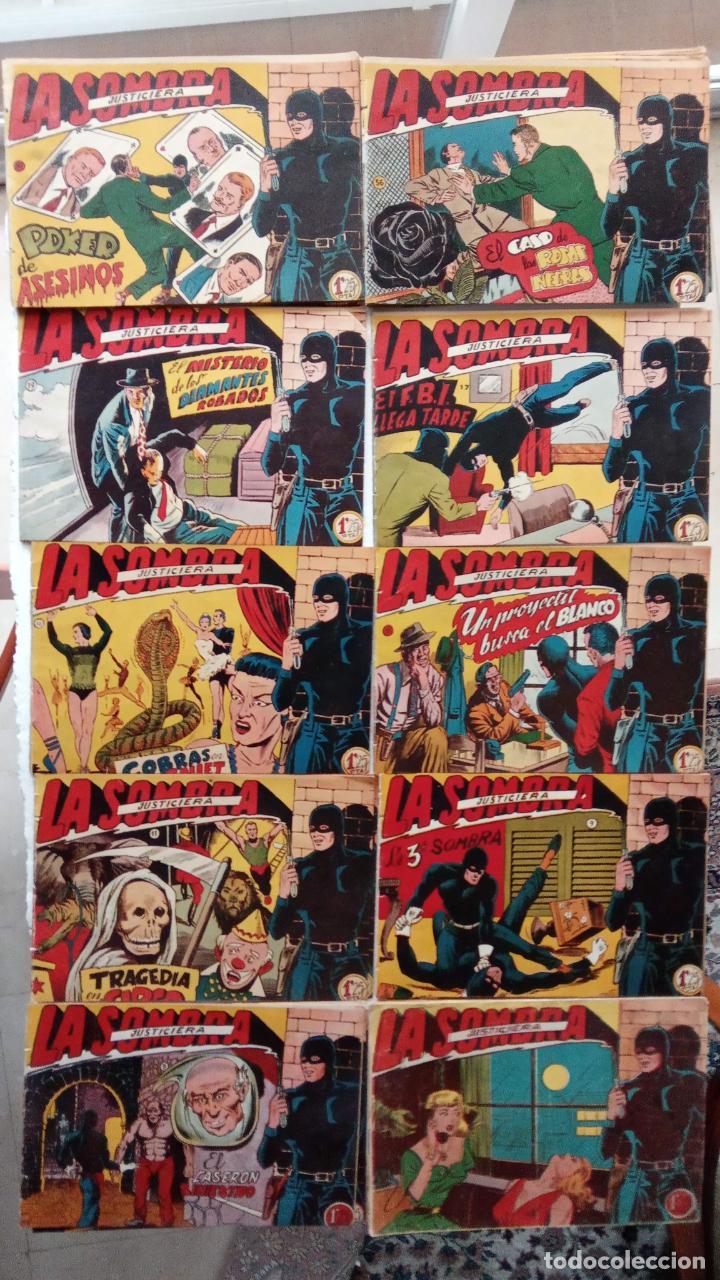 LA SOMBRA JUSTICIERA ORIGINAL 34 TEBEOS - EDI. FERMA 1954 - VER TODAS LAS PORTADAS (Tebeos y Comics - Ferma - Otros)