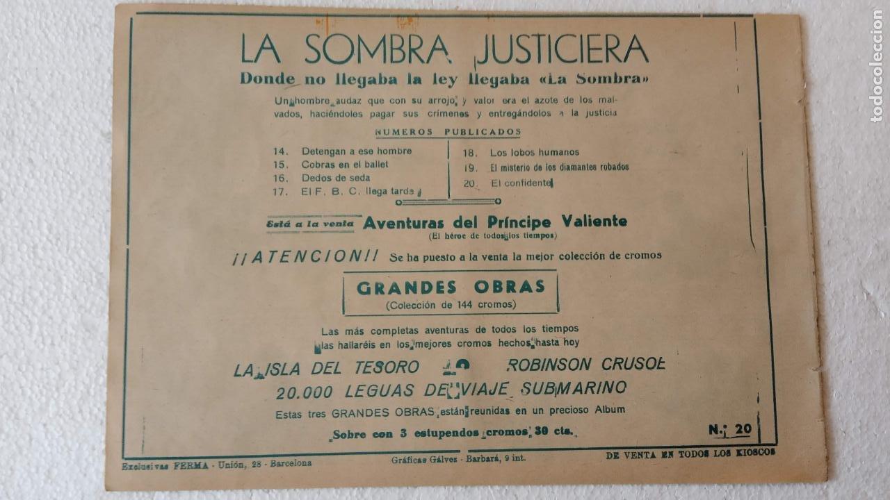 Tebeos: LA SOMBRA JUSTICIERA ORIGINAL 34 TEBEOS - EDI. FERMA 1954 - VER TODAS LAS PORTADAS - Foto 65 - 236655090