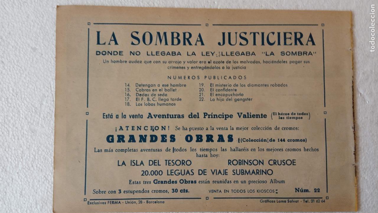 Tebeos: LA SOMBRA JUSTICIERA ORIGINAL 34 TEBEOS - EDI. FERMA 1954 - VER TODAS LAS PORTADAS - Foto 72 - 236655090