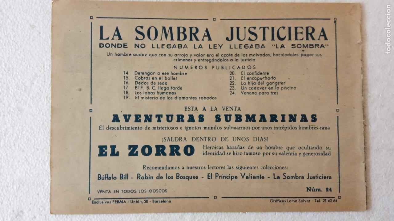 Tebeos: LA SOMBRA JUSTICIERA ORIGINAL 34 TEBEOS - EDI. FERMA 1954 - VER TODAS LAS PORTADAS - Foto 76 - 236655090