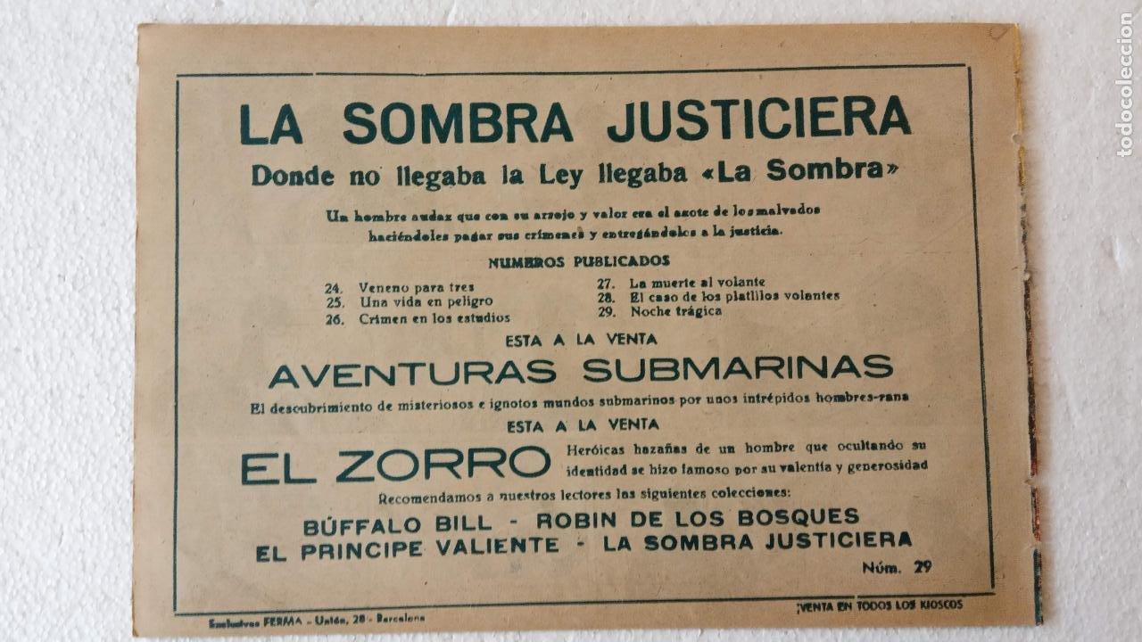 Tebeos: LA SOMBRA JUSTICIERA ORIGINAL 34 TEBEOS - EDI. FERMA 1954 - VER TODAS LAS PORTADAS - Foto 88 - 236655090