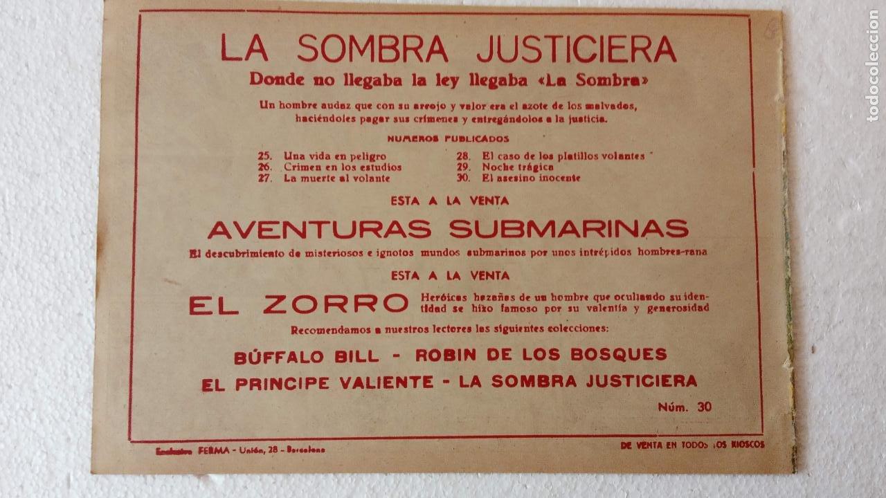 Tebeos: LA SOMBRA JUSTICIERA ORIGINAL 34 TEBEOS - EDI. FERMA 1954 - VER TODAS LAS PORTADAS - Foto 90 - 236655090