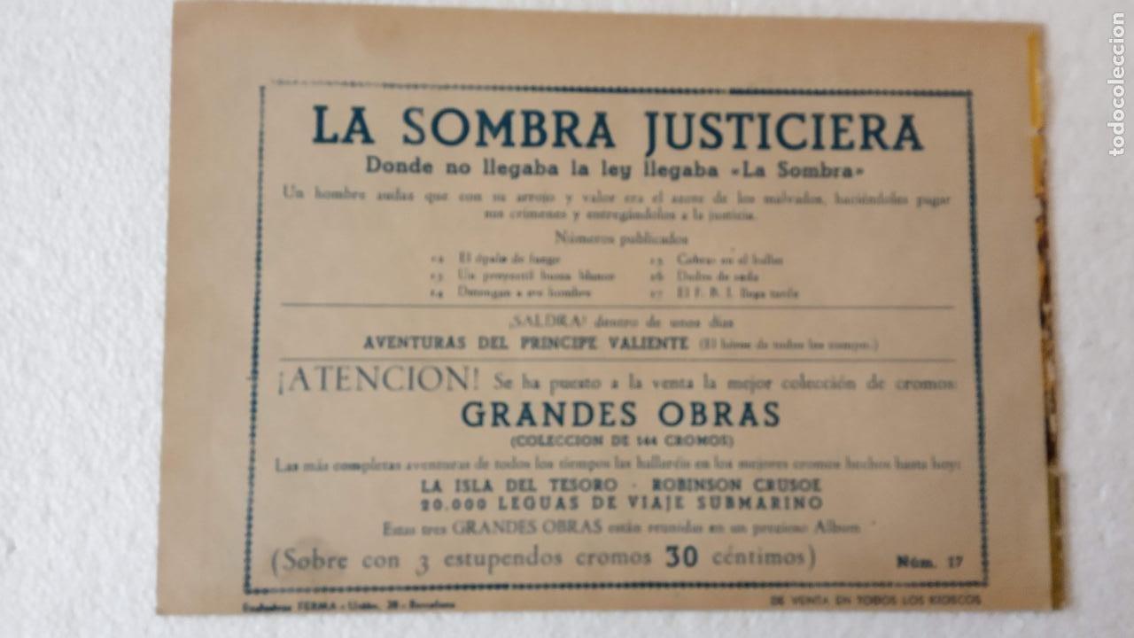 Tebeos: LA SOMBRA JUSTICIERA ORIGINAL 34 TEBEOS - EDI. FERMA 1954 - VER TODAS LAS PORTADAS - Foto 98 - 236655090