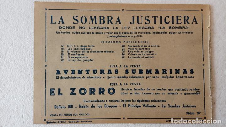 Tebeos: LA SOMBRA JUSTICIERA ORIGINAL 34 TEBEOS - EDI. FERMA 1954 - VER TODAS LAS PORTADAS - Foto 99 - 236655090
