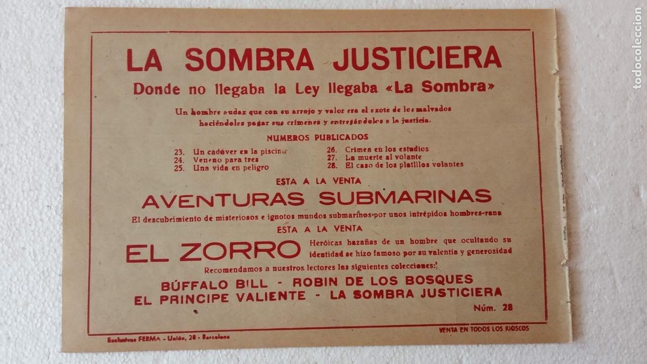 Tebeos: LA SOMBRA JUSTICIERA ORIGINAL 34 TEBEOS - EDI. FERMA 1954 - VER TODAS LAS PORTADAS - Foto 101 - 236655090
