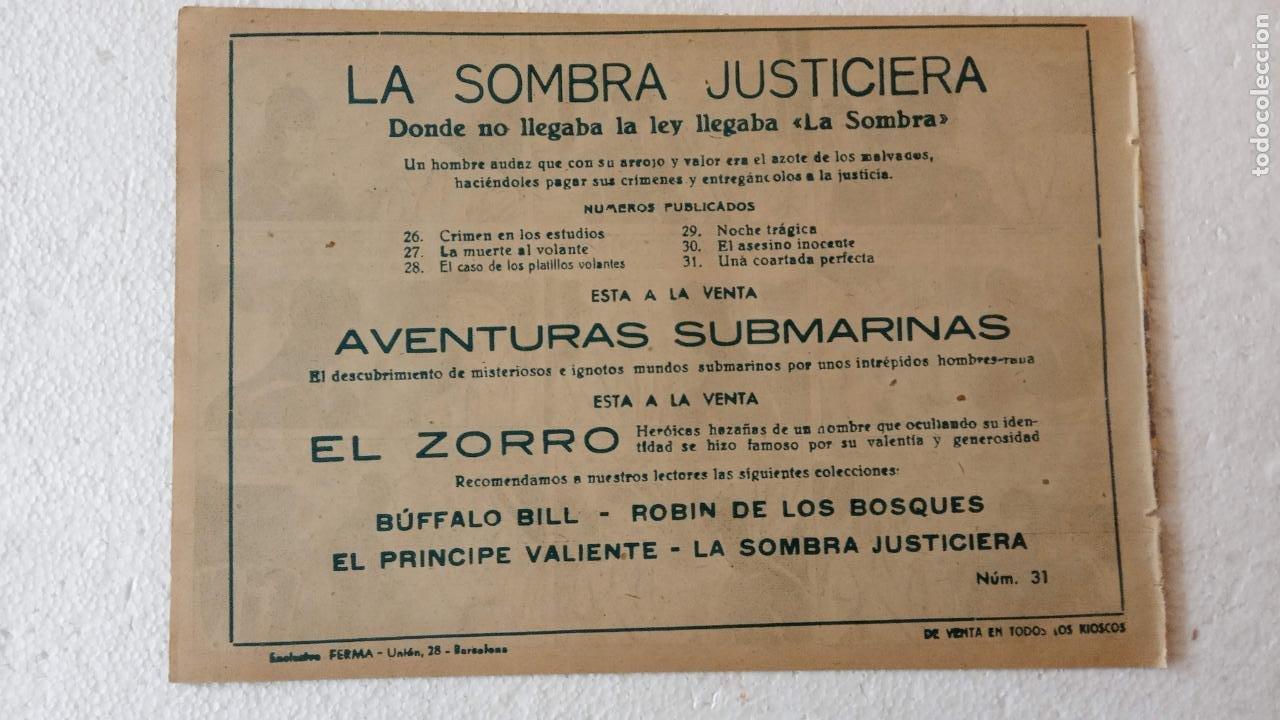 Tebeos: LA SOMBRA JUSTICIERA ORIGINAL 34 TEBEOS - EDI. FERMA 1954 - VER TODAS LAS PORTADAS - Foto 104 - 236655090