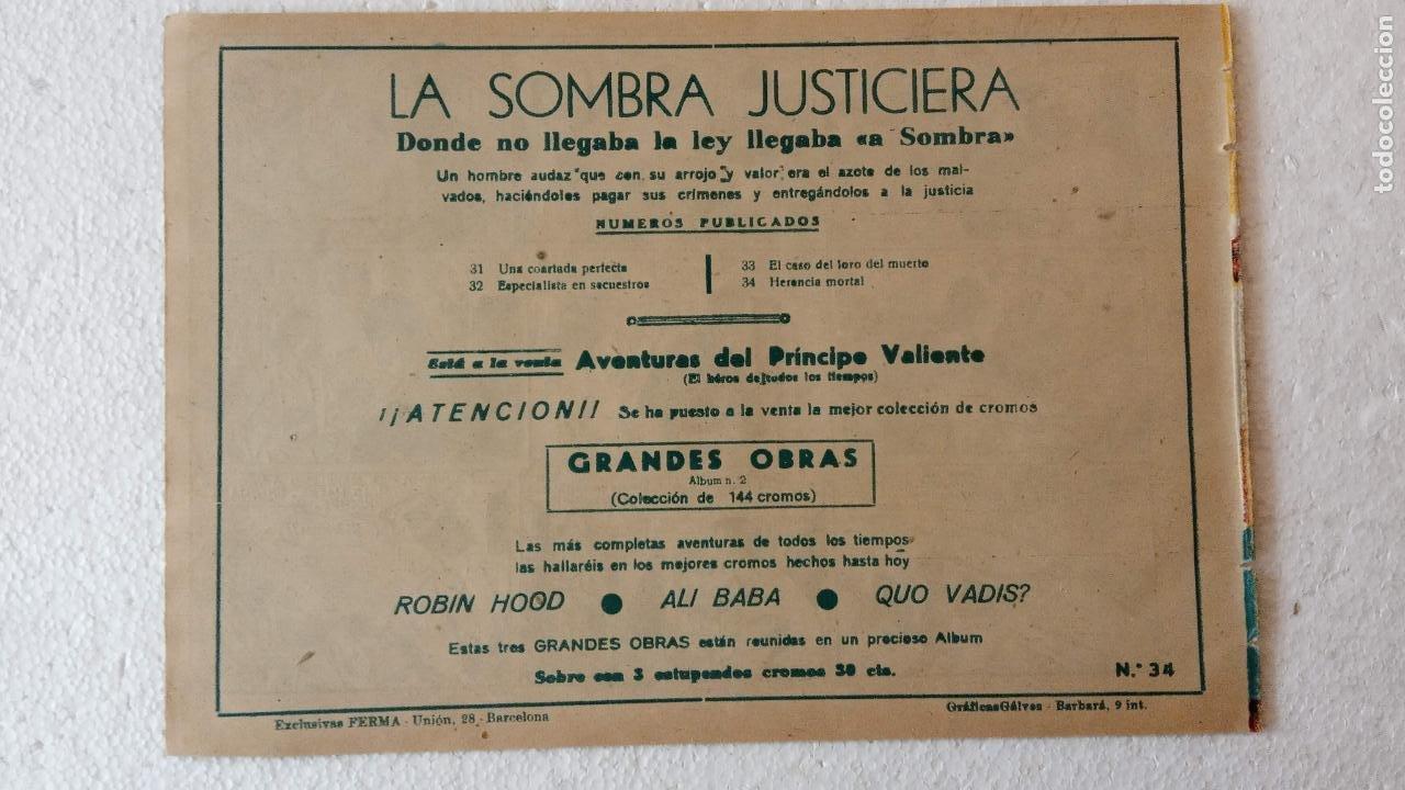 Tebeos: LA SOMBRA JUSTICIERA ORIGINAL 34 TEBEOS - EDI. FERMA 1954 - VER TODAS LAS PORTADAS - Foto 110 - 236655090