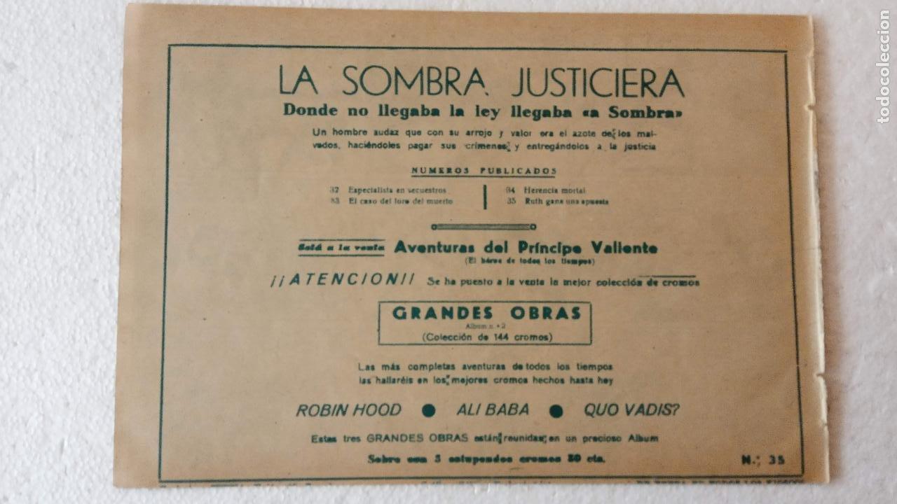 Tebeos: LA SOMBRA JUSTICIERA ORIGINAL 34 TEBEOS - EDI. FERMA 1954 - VER TODAS LAS PORTADAS - Foto 116 - 236655090