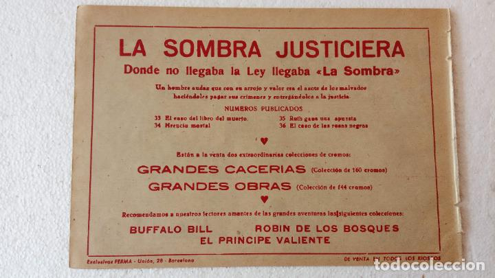Tebeos: LA SOMBRA JUSTICIERA ORIGINAL 34 TEBEOS - EDI. FERMA 1954 - VER TODAS LAS PORTADAS - Foto 118 - 236655090