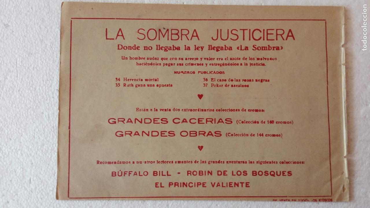 Tebeos: LA SOMBRA JUSTICIERA ORIGINAL 34 TEBEOS - EDI. FERMA 1954 - VER TODAS LAS PORTADAS - Foto 122 - 236655090