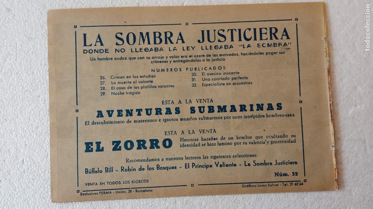 Tebeos: LA SOMBRA JUSTICIERA ORIGINAL 34 TEBEOS - EDI. FERMA 1954 - VER TODAS LAS PORTADAS - Foto 125 - 236655090