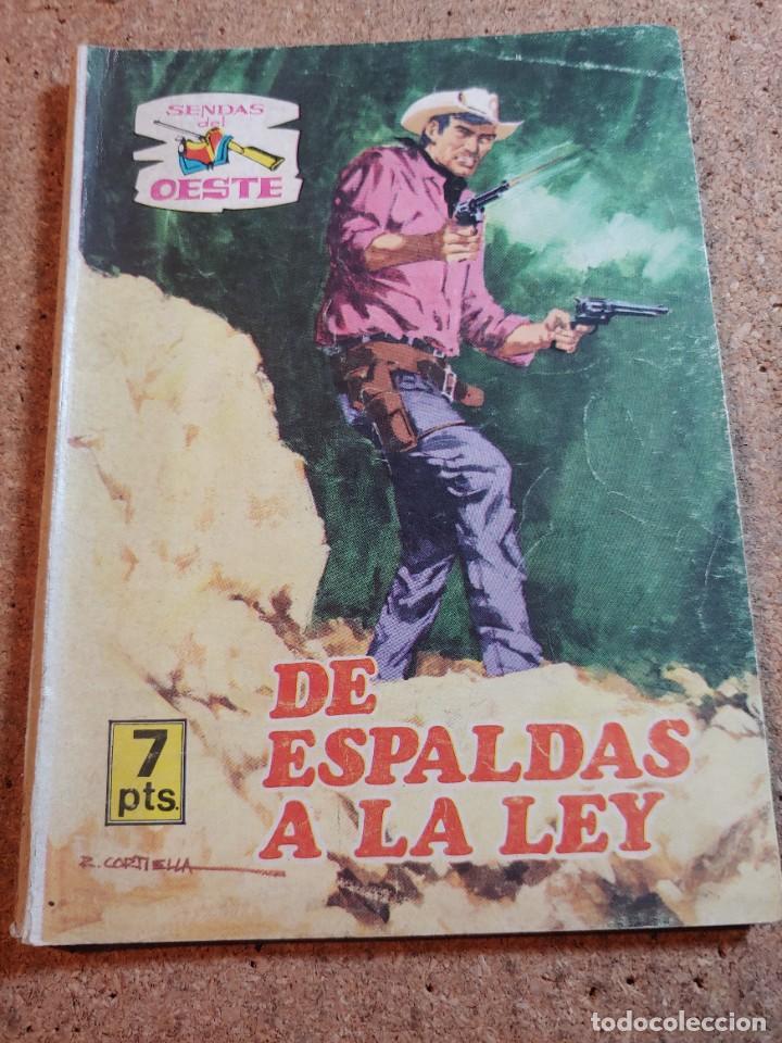 COMIC SENDAS DEL OESTE EN DE ESPALDAS A LA LEY DEL AÑO 1962 Nº 333 (Tebeos y Comics - Ferma - Otros)