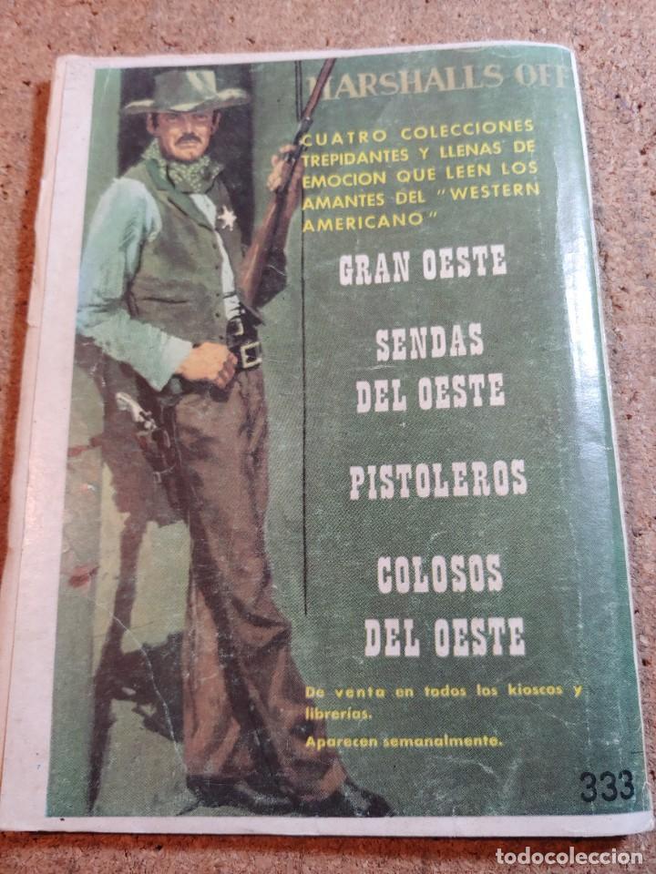 Tebeos: COMIC SENDAS DEL OESTE EN DE ESPALDAS A LA LEY DEL AÑO 1962 Nº 333 - Foto 2 - 237418600