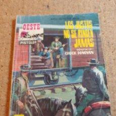 Livros de Banda Desenhada: COMIC DEL OESTE EN LOS JUSTOS NO SE RINDEN JAMAS DEL AÑO 1965 Nº 54. Lote 237418630