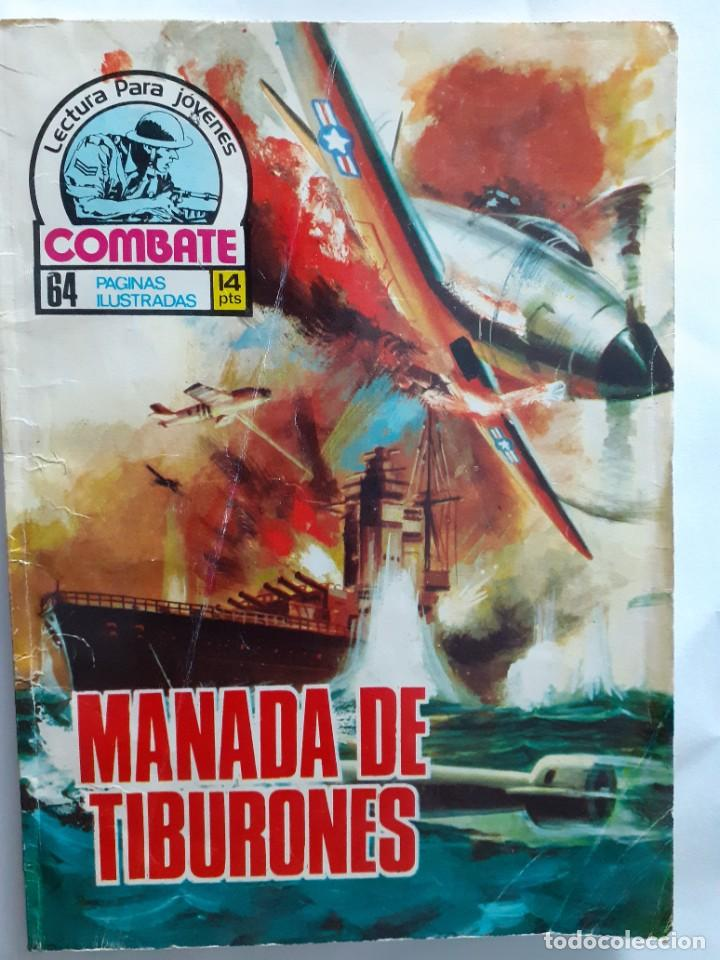 COMBATE- NOVELA GRÁFICA SEMANAL- Nº 26 -MANADA DE TIBURONES-ÚNICO EN TC-CASI BUENO-1975-LEAN-4293 (Tebeos y Comics - Ferma - Combate)