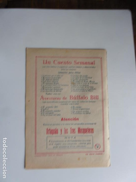 Tebeos: AVENTURAS DE BUFFALO BILL Nº 9 FERMA 1950 ORIGINAL - Foto 2 - 241882415