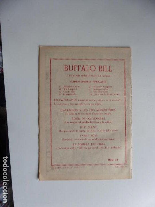 Tebeos: AVENTURAS DE BUFFALO BILL Nº 34 FERMA 1950 ORIGINAL - Foto 2 - 241884205