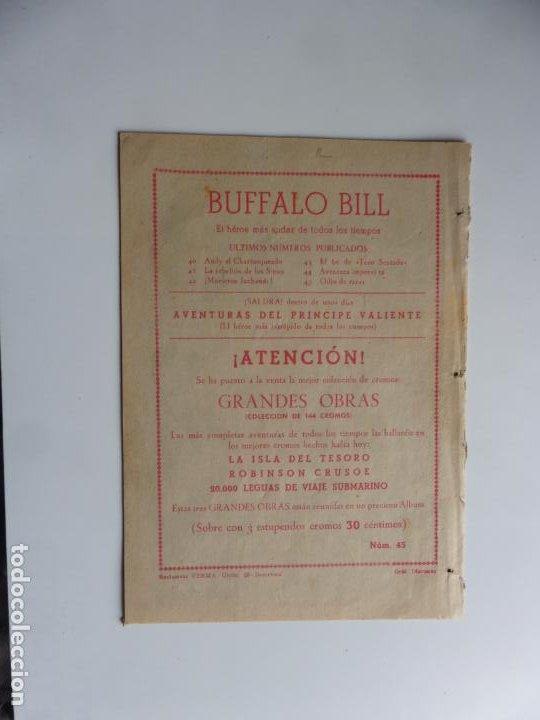 Tebeos: AVENTURAS DE BUFFALO BILL Nº 45 FERMA 1950 ORIGINAL - Foto 2 - 241884725
