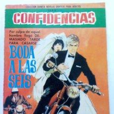 Tebeos: CONFIDENCIAS Nº 350 - BODA A LAS SEIS - EDITORIAL FERMA. Lote 245276235
