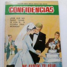 Tebeos: CONFIDENCIAS Nº 353 - NO QUIERO TU ODIO - EDITORIAL FERMA. Lote 245276380