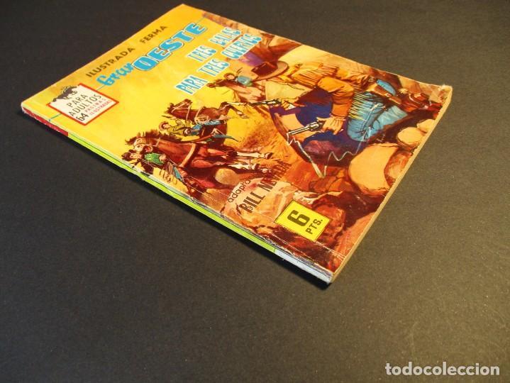 Tebeos: GRAN OESTE / MONTANA OESTE (1958, FERMA) 316 · 4-VI-1964 · TRES BALAS PARA TRES CUERVOS - Foto 2 - 249023740