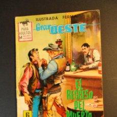 Tebeos: GRAN OESTE / MONTANA OESTE (1958, FERMA) 310 · 23-IV-1964 · EL REGRESO DEL MUERTO. Lote 249025030