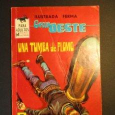 Livros de Banda Desenhada: GRAN OESTE / MONTANA OESTE (1958, FERMA) 315 · 28-V-1964 · UNA TUMBA DE PLOMO. Lote 249030465