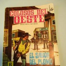 Tebeos: COLOSOS DEL OESTE (1964, FERMA) 96 · 11-II-1966 · EL SABOR DEL PLOMO. Lote 249109925
