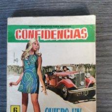 Tebeos: CONFIDENCIAS N°454 - QUIERO UN AUTOMÓVIL - FERMA. Lote 251536275