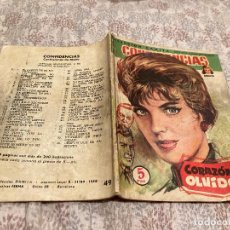 Livros de Banda Desenhada: COLECCIÓN DAMITA, CONFIDENCIAS Nº49 (ED. FERMA 1958) CORAZON EN OLVIDO. Lote 251792955