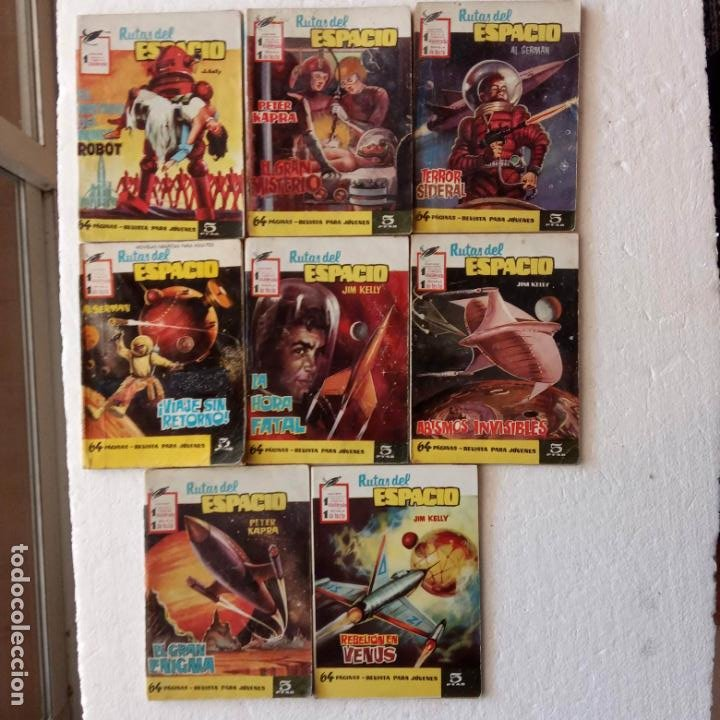 RUTAS DEL ESPACIO FERMA 1959 - 1,2,3,4,5,6,7,9 - MUY BIEN CONSERVADOS, VER FOTOS (Tebeos y Comics - Ferma - Otros)