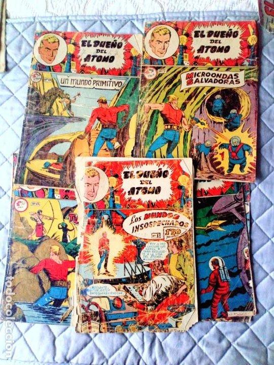 EL DUEÑO DEL ÁTOMO LOTE DE 5 TEBEOS ORIGINALES FERMA (Tebeos y Comics - Ferma - Otros)