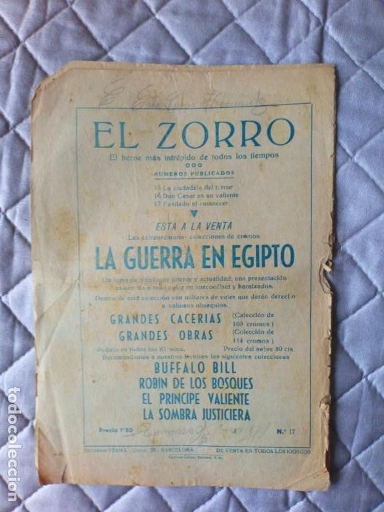 Tebeos: El Zorro Nº 17 ORIGINAL FERMA - Foto 2 - 255421495