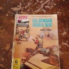 Tebeos: OESTE PISTOLEROS: ¡LOS CRAGSON ATACAN DE NUEVO! (JOHNNY RINGO) (ED. FERMA). Lote 255543410