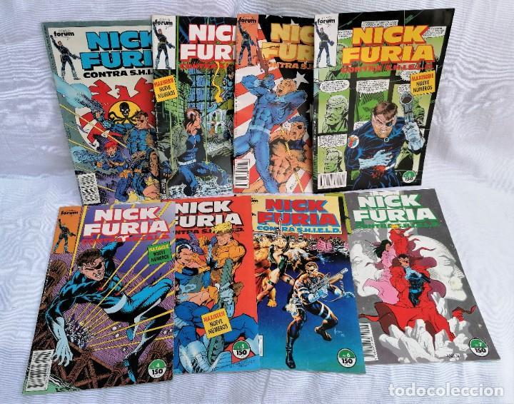 LOTE DE ANTIGUOS TEBEOS DE NICK FURIA AGENTE DE SHILD (Tebeos y Comics - Ferma - Agente Secreto)