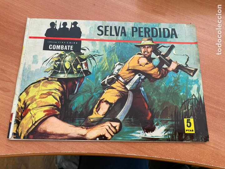 COLECCION CINECOLOR COMBATE Nº 1 SELVA PERDIDA (FERMA ) ORIGINAL (COIB80) (Tebeos y Comics - Ferma - Combate)