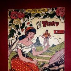 Tebeos: EL TESORO COLECCIÓN CUATRO ROSAS Nº 13 DIBUJANTE VICENTE FERRER 1955. Lote 260081635