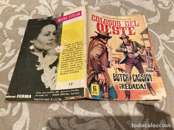 COLOSOS DEL OESTE Nº 19 BUTCH CASSIDY - REDADA - EDITORIAL FERMA (Tebeos y Comics - Ferma - Colosos de Oeste)