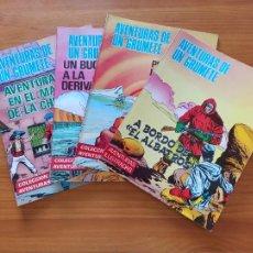 Tebeos: AVENTURAS DE UN GRUMETE Nº 1, 2, 3 Y 4 - COLECCION AVENTURAS - PRODUCCIONES EDITORIALES (N). Lote 262897805