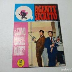 Tebeos: ORIGINAL NO COPIA AGENTE SECRETO EDITORIAL FERMA AÑO 1966. Lote 263938985
