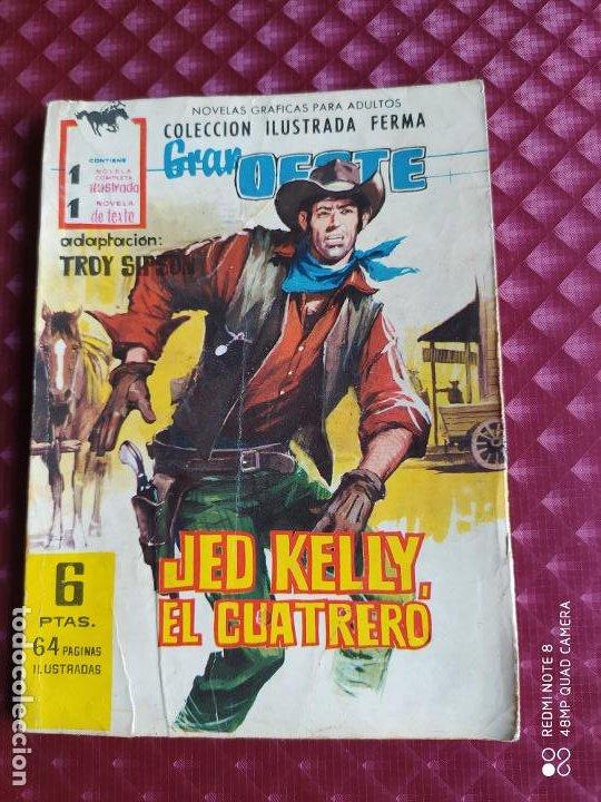 GRAN OESTE 188 JED KELLY EL CUATRERO FERMA 1962 BUEN ESTADO (Tebeos y Comics - Ferma - Gran Oeste)