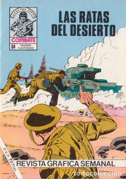 COMBATE-NOVELA GRÁFICA- Nº 241 -LAS RATAS DEL DESIERTO-1981-LUIS COLLADO-MUY DIFÍCIL-BUENO-LEA-4779 (Tebeos y Comics - Ferma - Combate)
