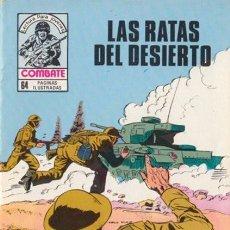 Tebeos: COMBATE-NOVELA GRÁFICA- Nº 241 -LAS RATAS DEL DESIERTO-1981-LUIS COLLADO-MUY DIFÍCIL-BUENO-LEA-4779. Lote 264330348